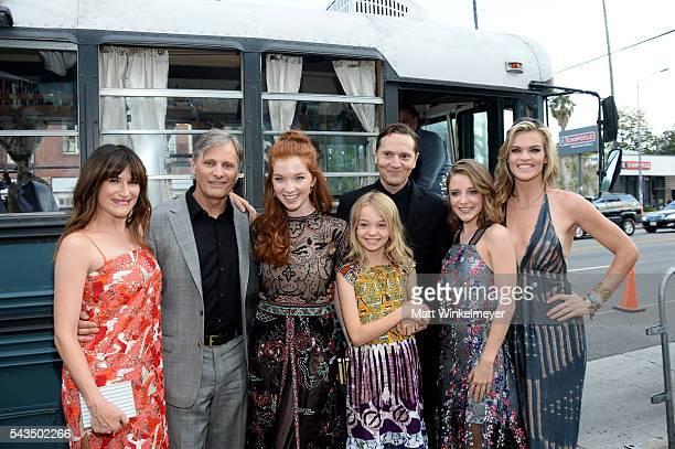 Actors Kathryn Hahn Viggo Mortensen Annalise Basso Shree Crooks writer/director Matt Ross and actors Samantha Isler and Missi Pyle attend the...