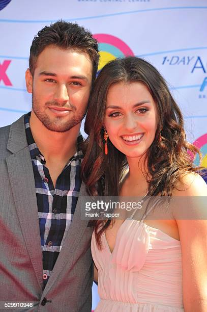 Actors Kathryn McCormick and Ryan Guzman arrive at the 2012 Teen Choice Awards held at the Gibson Amphitheatre in Universal City California