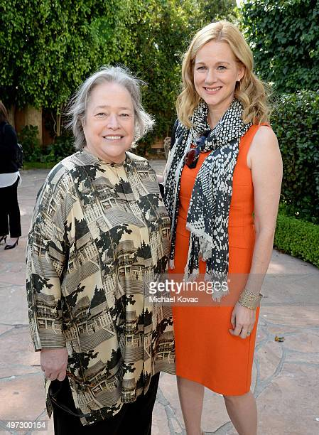 Actors Kathy Bates and Laura Linney attend Brunch With Sir Ian McKellan Hosted By British ConsulateGeneral at British Consul General's Residence on...