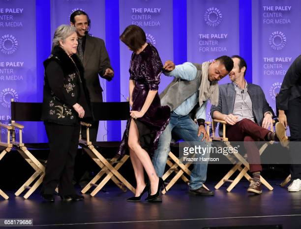 Actors Kathy Bates Sarah Paulson Cuba Gooding Jr Denis O'Hare attend The Paley Center For Media's 34th Annual PaleyFest Los Angeles American Horror...