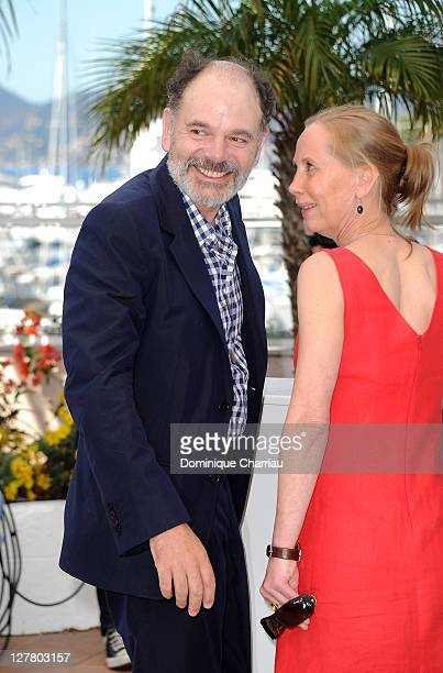 Actors Kati Outinen and JeanPierre Darroussin attend the 'La Havre' Photocall at the Palais des Festivals during the 64th Cannes Film Festival on May...
