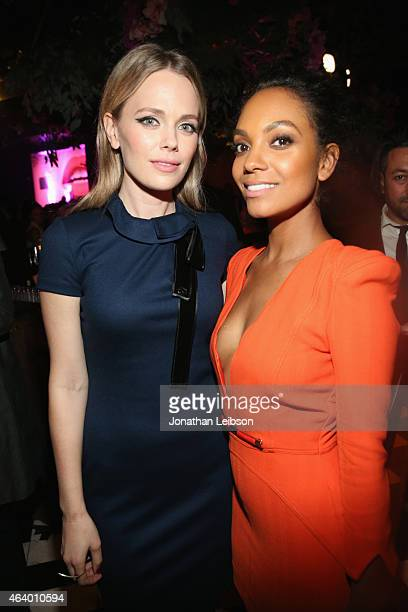 Actors Katia Winter and Lyndie Greenwood attend VANITY FAIR and L'Oreal Paris D.J. Night hosted by Freida Pinto to benefit Girl Rising at 1OAK on...