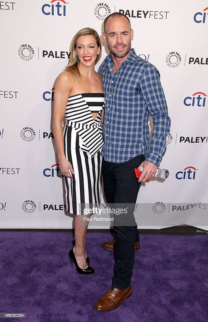 Actors Katie Cassidy and Paul Blackthorne attend The Paley Center For Media's 32nd Annual PALEYFEST LA - 'Arrow' And 'The Flash' at Dolby Theatre on March 14, 2015 in Hollywood, California.