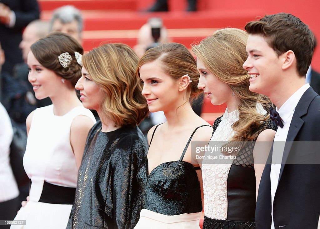 Actors Katie Chang, director Sofia Coppola, actors Emma Watson, Taissa Fariga and Israel Broussard attend the Premiere of 'The Bling Ring' at The 66th Annual Cannes Film Festival at Palais des Festivals on May 16, 2013 in Cannes, France.