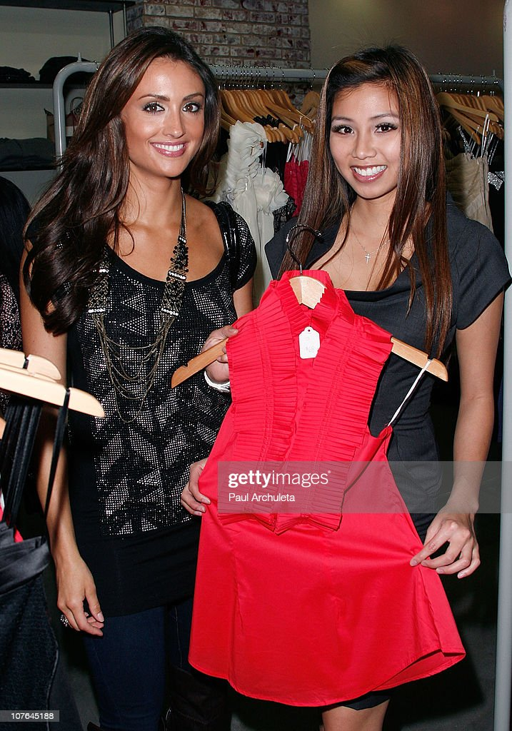Actors Katie Cleary (L) and Crystal Hoang (R) attend the opening of the L.a. & JO Store with The Real Housewives Of Beverly Hills/Orange County at L.a. & JO on December 16, 2010 in Santa Monica, California.