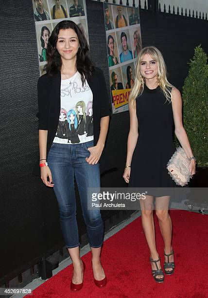 Actors Katie Findlay and Carlson Young attend the screening of 'Premature' at The Arena Cinema Hollywood on July 25 2014 in Hollywood California