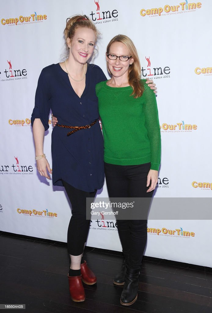 Actors Katie Finneran (L) and Amy Ryan attend the Paul Rudd 2nd Annual All-Star Bowling Benefit supporting Our Time at Lucky Strike on October 21, 2013 in New York City.