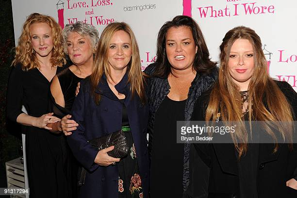 Actors Katie Finneran Tyne Daly Samantha Bee Rosie O�Donnell and Natasha Lyonne attend the after party for the Off Broadway opening night of 'Love...