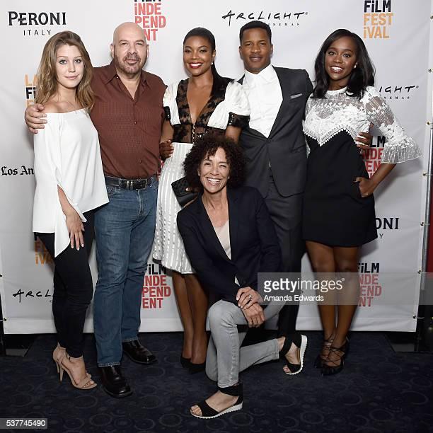 Actors Katie Garfield Jason Stuart Gabrielle Union Los Angeles Film Festival Director Stephanie Allain director Nate Parker and actress Aja Naomi...