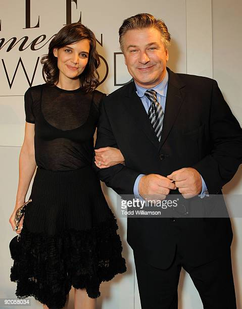 Actors Katie Holmes and Alec Baldwin attend the 16th Annual ELLE Women in Hollywood Tribute at the Four Seasons Hotel on October 19 2009 in Beverly...