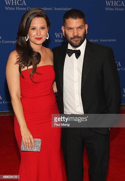 Actors Katie Lowes and Guillermo Diaz attend the 100th Annual White House Correspondents' Association Dinner at the Washington Hilton on May 3 2014...