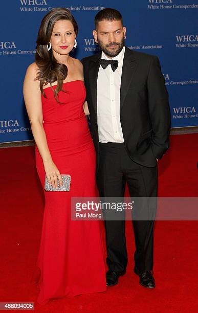 Actors Katie Lowes and uillermo Diaz attend the 100th Annual White House Correspondents' Association Dinner at the Washington Hilton on May 3, 2014...