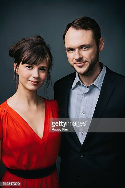 Actors Katja Herbers and Christopher Denham are photographed at the 2015 Summer TCAs for The Wrap on July 30 2015 in Hollywood California