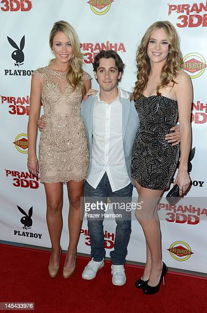 Actors Katrina Bowden Matt Bush and Danielle Panabaker arrive at the Premiere of Dimension Films' Piranha 3DD at The Mann Chinese 6 on May 29 2012 in...