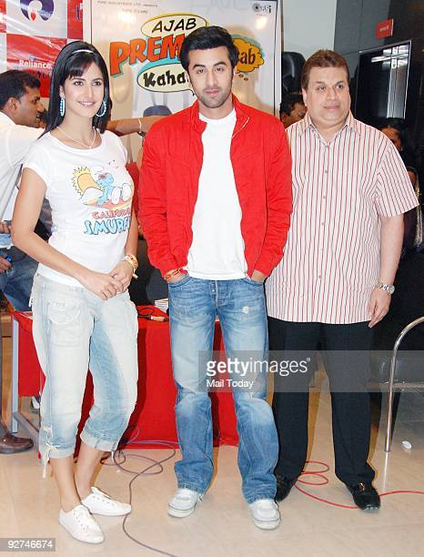 Actors Katrina Kaif and Ranbir Kapoor at an event to promote their upcoming film 'Ajab Prem Ki Ghazab Kahani' in Mumbai on Monday November 2 2009