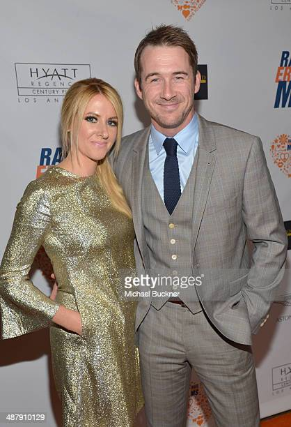Actors Katy O'Grady and Barry Sloane attend the 21st annual Race to Erase MS at the Hyatt Regency Century Plaza on May 2 2014 in Century City...