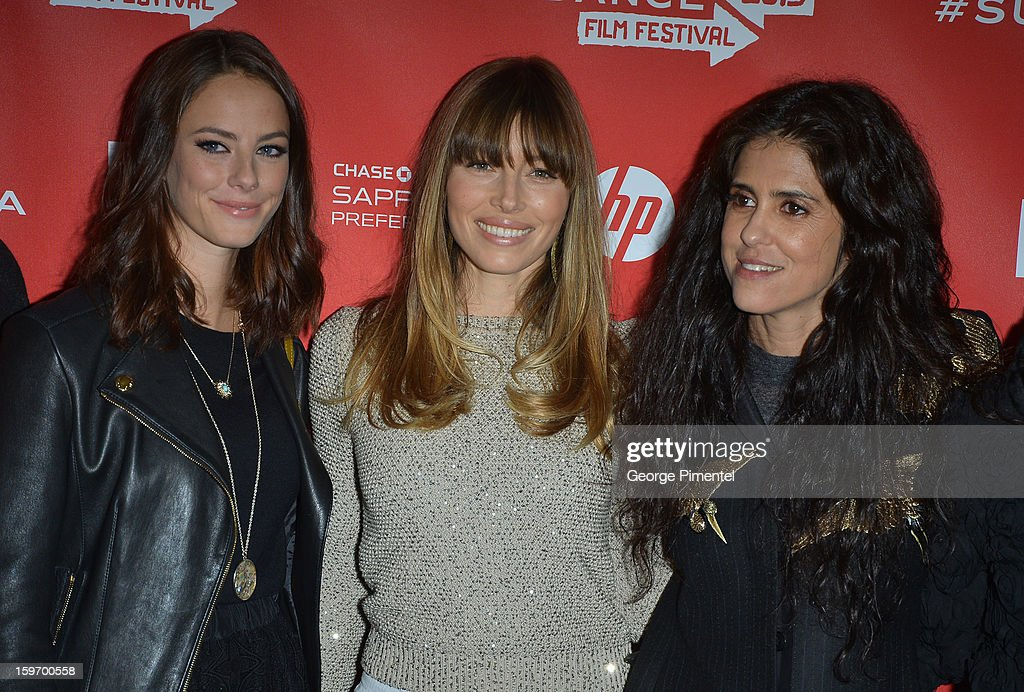 Actors Kaya Scodelario and Jessica Biel and director Francesca Gregorini attend the 'Emanuel and The Truth About Fishes' Premiere during the 2013 Sundance Film Festival at Library Center Theater on January 18, 2013 in Park City, Utah.