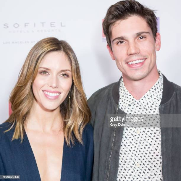 Actors Kayla Ewell and Tanner Novlan arrive for the Childhelp Hosts An Evening Celebrating Hollywood Heroes at Riviera 31 on October 18 2017 in...