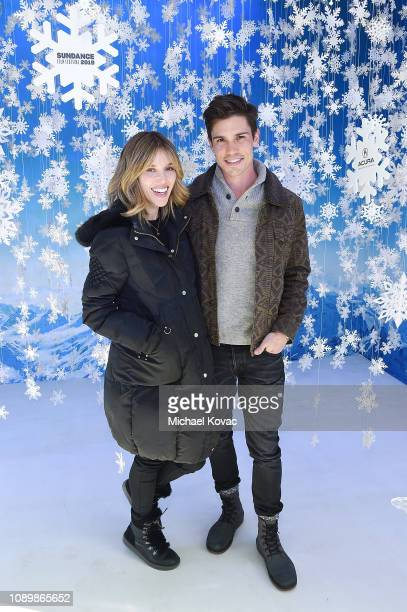 Actors Kayla Ewell and Tanner Novlan attend Acura Festival Village at The Sundance Film Festival on January 26 2019 in Park City Utah