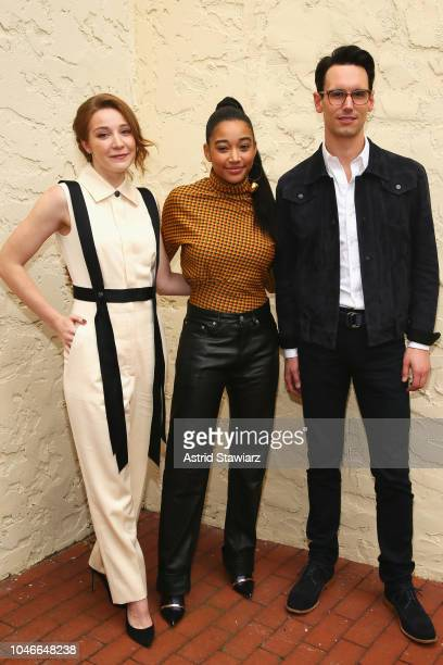 Actors Kayli Carter Amandal Stenberg and Cory Micheal Smith attend Winck Talks Breakthrough Artists at Rowdy Hall during Hamptons International Film...