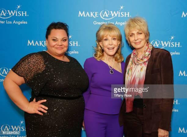 Actors Keala Settle Barbara Eden and Joanna Cassidy at the 2017 Make a Wish Gala on November 9 2017 in Los Angeles California