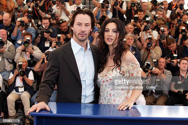 Actors Keanu Reeves and Monica Bellucci