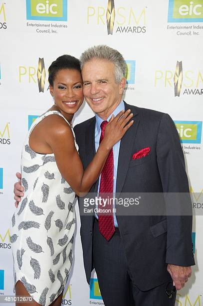 Actors Kearran Giovanni and Tony Denison attend the 19th Annual Prism Awards ceremony at Skirball Cultural Center on July 16 2015 in Los Angeles...