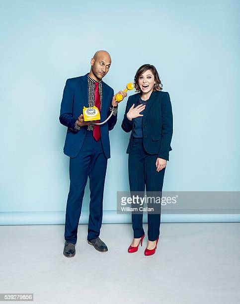 Actors Keegan Michael Key and Rachel Bloom are photographed for The Wrap on April 6 2016 in Los Angeles California