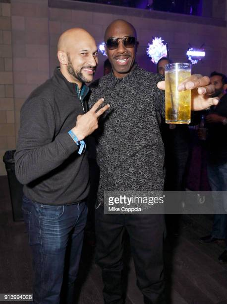 Actors KeeganMichael Key and JB Smoove attend the 2018 DIRECTV NOW Super Saturday Night Concert at NOMADIC LIVE at The Armory on February 3 2018 in...