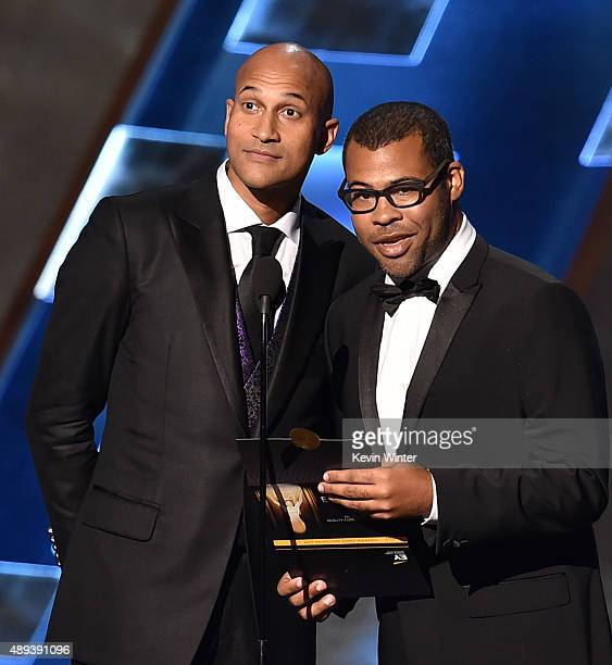 Actors KeeganMichael Key and Jordan Peele speak onstage during the 67th Annual Primetime Emmy Awards at Microsoft Theater on September 20 2015 in Los...