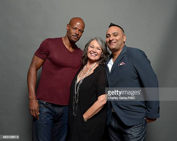 Actors Keenan Ivory Wayans, Roseanne Barr and Russell Peters pose for a portrait during the 2014 NBCUniversal Summer Press Day at The Langham...