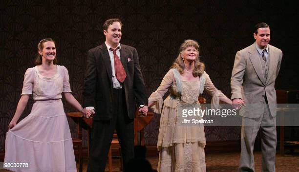 Actors Keira Keeley Patch Darragh Judith Ivey and Michael Mosley attend the opening night of 'The Glass Menagerie' at the Roundabout Theatre...