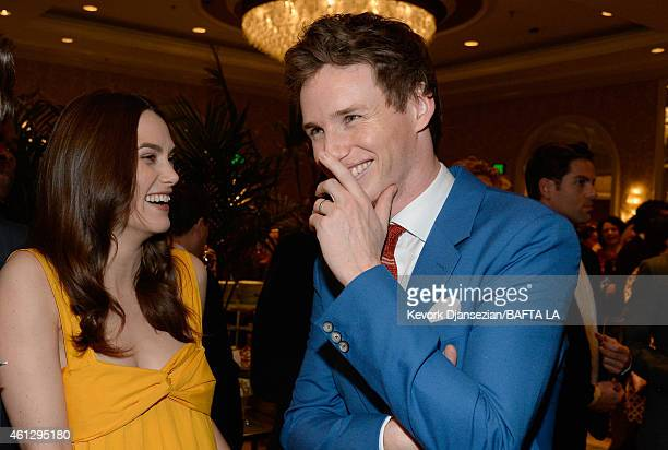 Actors Keira Knightley and Eddie Redmayne attend the BAFTA Los Angeles Tea Party at The Four Seasons Hotel Los Angeles At Beverly Hills on January 10...