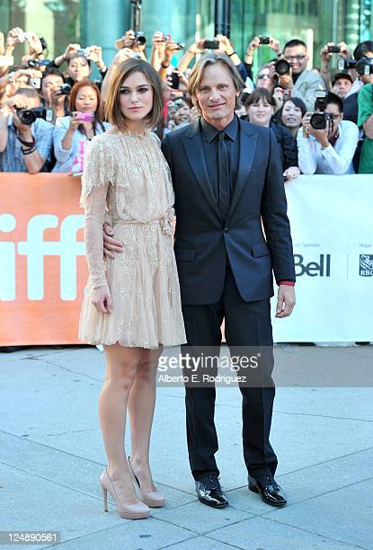 Actors Keira Knightley and Viggo Mortensen arrive at A Dangerous Method Premiere at Roy Thomson Hall during the 2011 Toronto International Film...