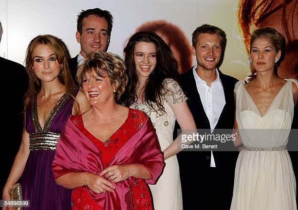 Actors Keira Knightley Matthew MacFadyen Brenda Blethyn Talulah Riley Simon Woods and Rosamund Pike arrive at the UK premiere for the film Pride...
