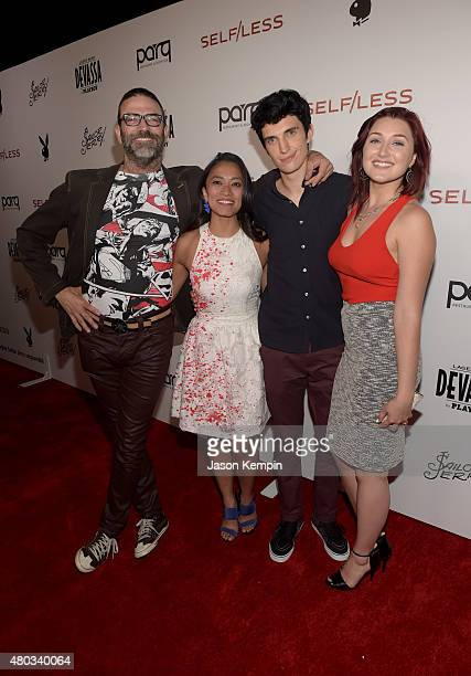 Actors Keith Allan Pisay Pao Nat Zang and Anastasia Baranova attend Playboy and Gramercy Pictures' Self/less party during ComicCon weekend at Parq...