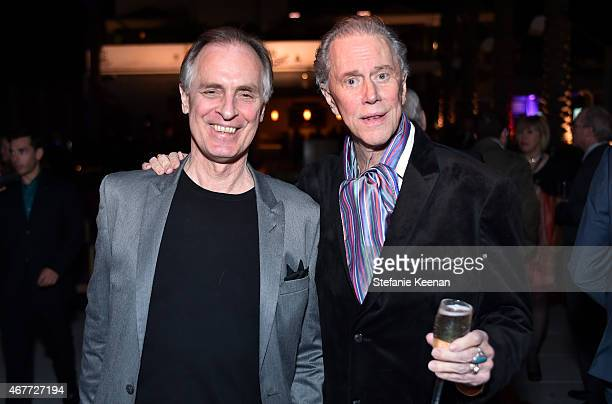 Actors Keith Carradine and Andrew Prine attend the after party for the Opening Night Gala and screening of The Sound of Music during the 2015 TCM...