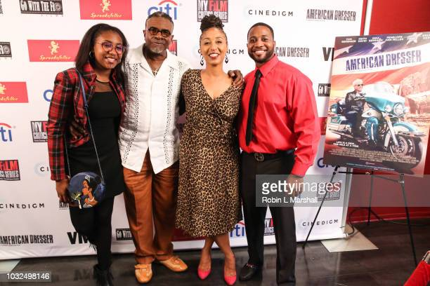 """Actors Keith David, Dionne Lea Williams and family attend the premiere of Cinedigm's """"American Dresser"""" at Laemmle's Monica Film Center on September..."""