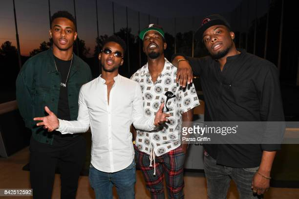 Actors Keith Powers Algee Smith Luke James and Woody McClain at LudaDay Weekend Topgolf Takeover at Topgolf Midtown on September 3 2017 in Atlanta...