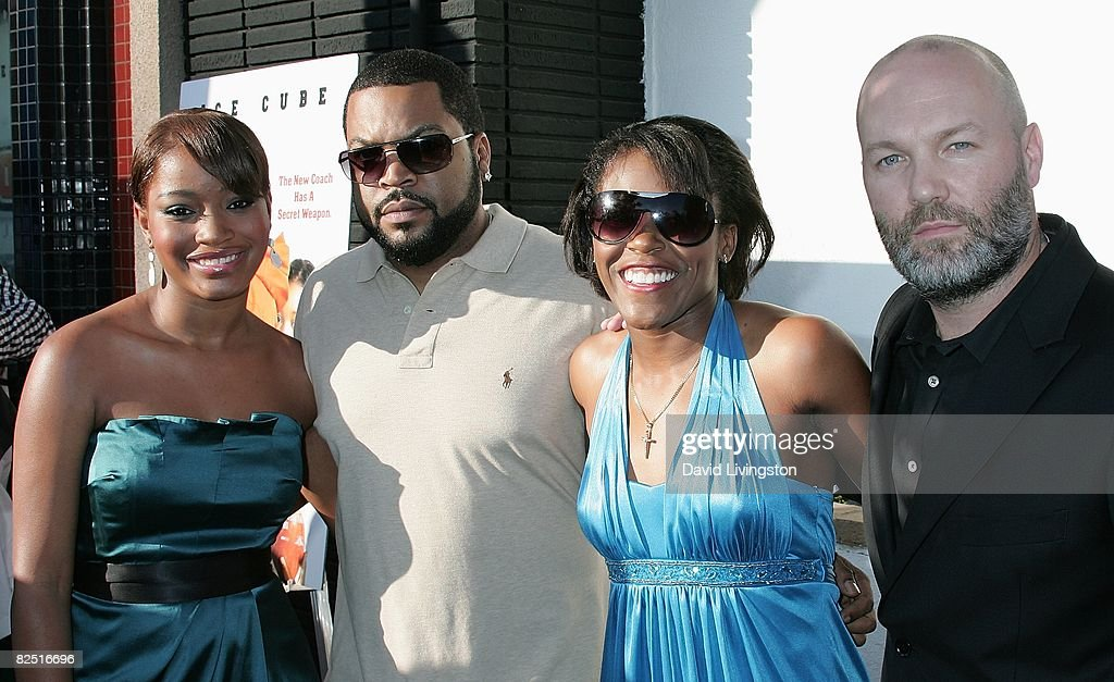 Actors Keke Palmer and Ice Cube, Jasmine Palmer and director Fred Durst attend the world premiere of The Weinstein Company's 'The Longshots' at the Majestic Crest Theatre on August 20, 2008 in Westwood, California.