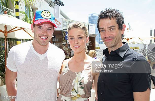 Actors Kellan Lutz, Amber Heard and James Frain attend Day 3 of the WIRED Cafe at Comic-Con 2010 held at the Omni Hotel on July 24, 2010 in San...