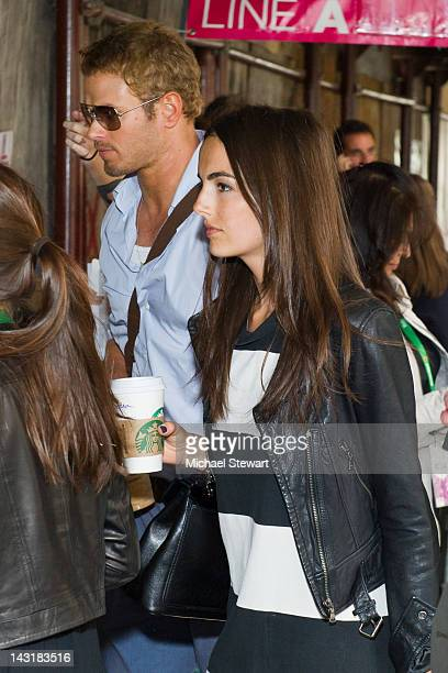 Actors Kellan Lutz and Camilla Belle attend the premiere of 'Fairhaven' during the 2012 Tribeca Film Festival at AMC Loews Village 7 on April 20 2012...