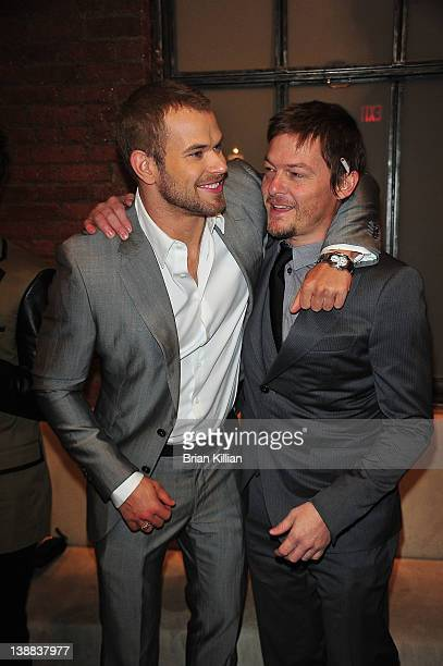 Actors Kellan Lutz and Norman Reedus attend the Simon Spurr Fall 2012 fashion show during MercedesBenz Fashion Week at the Milk Studios on February...