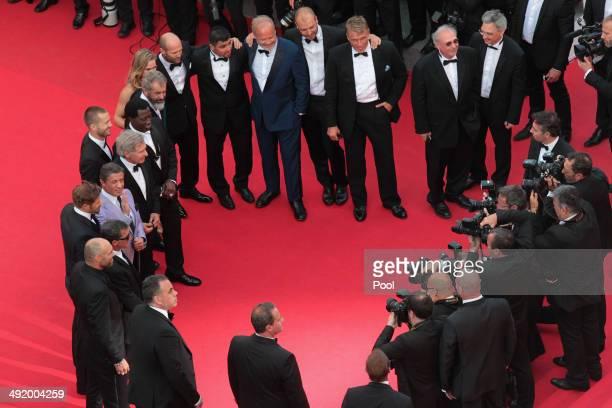 Actors Kellan Lutz Antonio Banderas Mel Gibson Ronda Rousey Wesley Snipes Sylvester Stallone Kelsey Grammer Harrison Ford Glen Powell Dolph Lundgren...