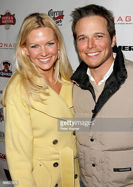 Actors Kelley Limp and Scott Wolf arrive at the ICM talent agency party at the Claimjumper during the 2006 Sundance Film Festival on January 20 2006...