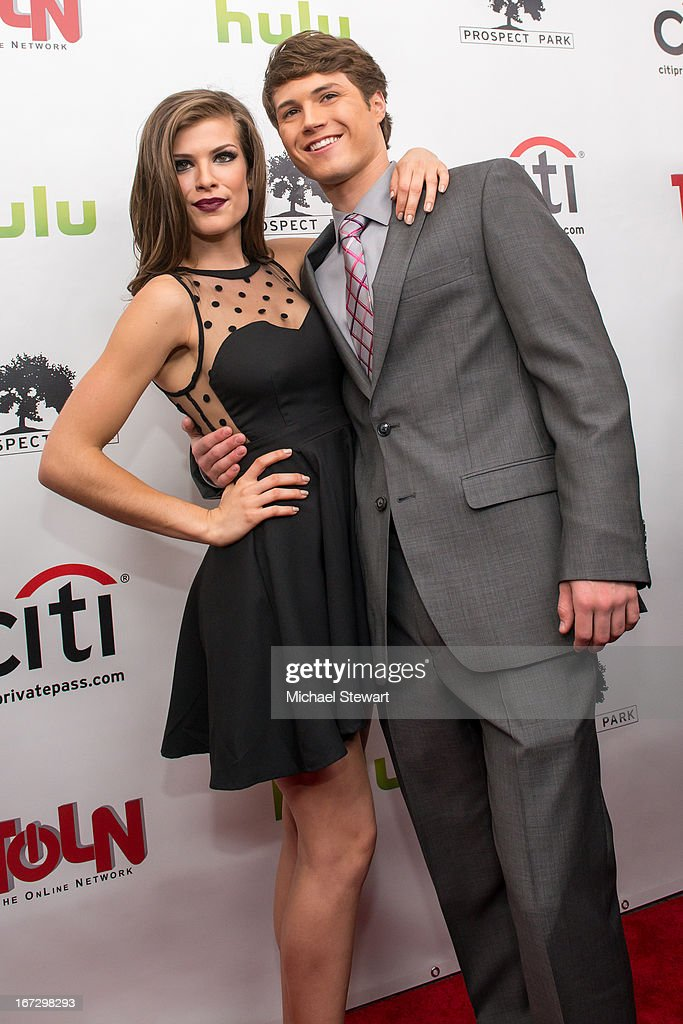 Actors Kelley Missal (L) and Andrew Trischitta attends the 'All My Children' & 'One Life To Live' premiere at Jack H. Skirball Center for the Performing Arts on April 23, 2013 in New York City.