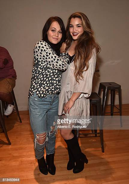 Actors Kelli Berglund and Paris Berelc attend the premiere party of Disney XD's 'Lab Rats Elite Force' on March 2 2016 in Los Angeles California