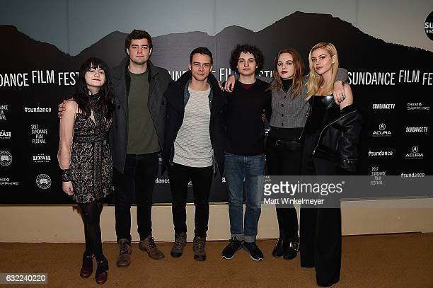 Actors Kelli Mayo Adam Long Ben Winchell Max Burkholder Odessa Young and Nicola Peltz attend the Independent Pilot Showcase during day 2 of the 2017...