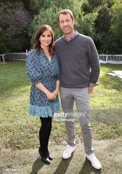 Actors Kellie Martin and Colin Ferguson visit Hallmark Channel's Home Family at Universal Studios Hollywood on December 10 2019 in Universal City...