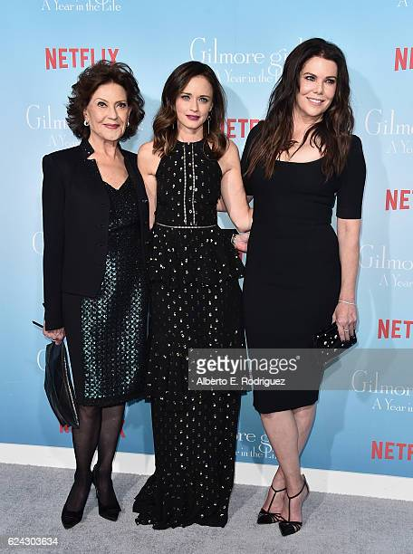 Actors Kelly Bishop Alexis Bledel and Lauren Graham attend the premiere of Netflix's 'Gilmore Girls A Year In The Life' at the Regency Bruin Theatre...